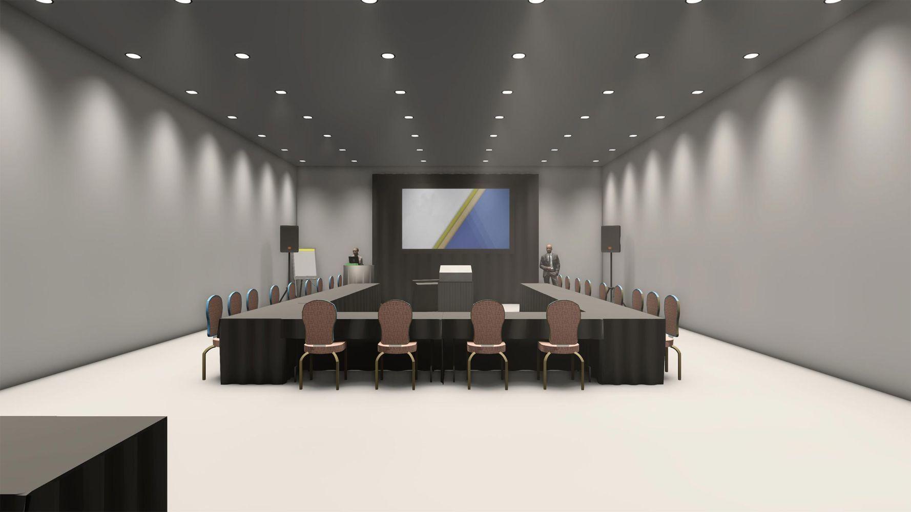 An advisory board presenting a deck virtually